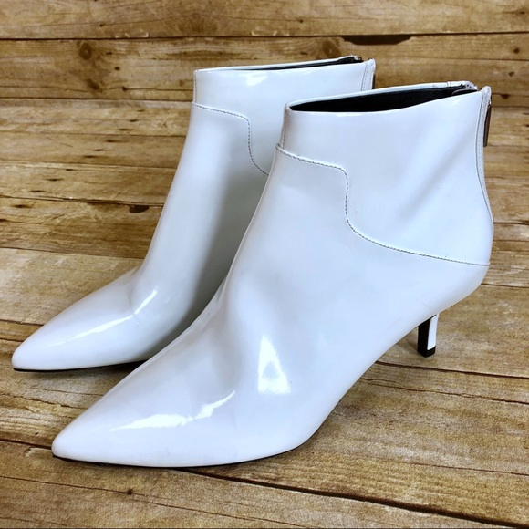 Via Spiga White Madilyn Leather Pointed